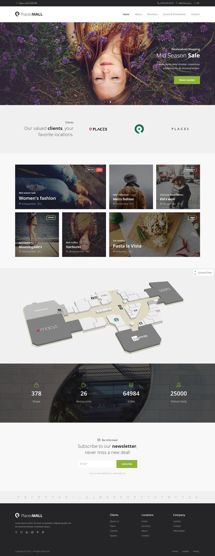 Places custom interactive map html5 template