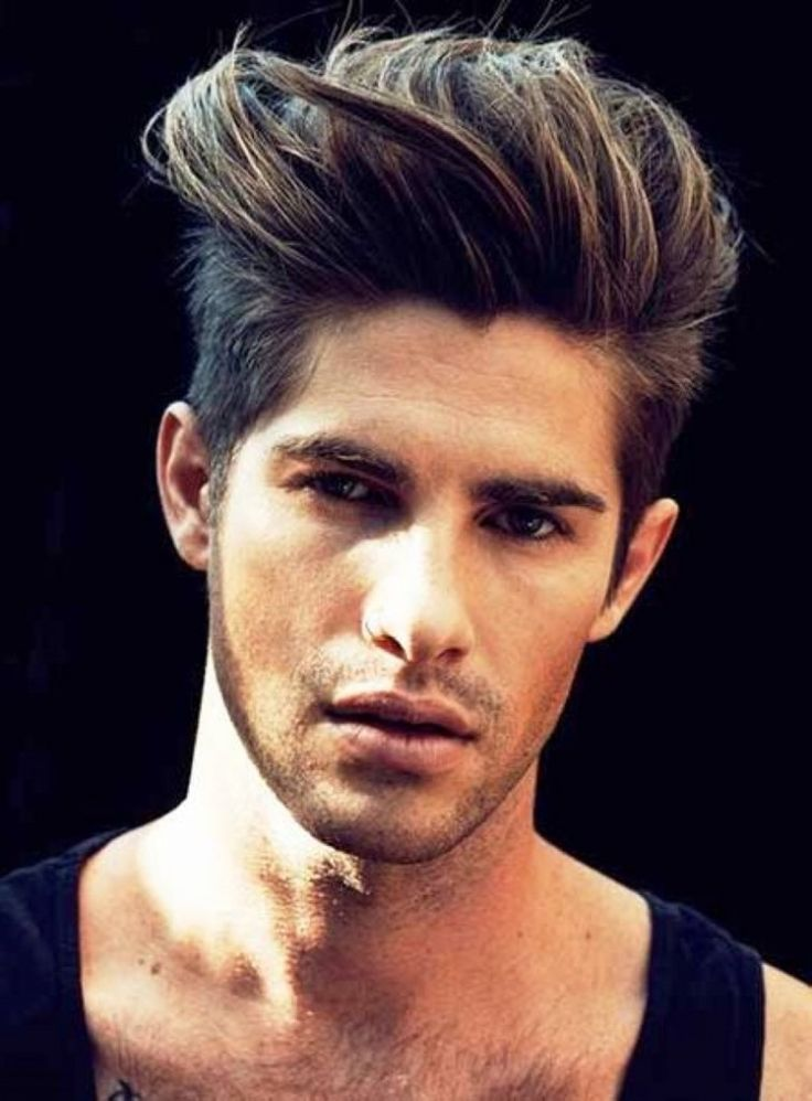 boys latest hair style the cool brushed up hairstyle mens haircuts 2014 mens 5133 | 0fd5e98c731466a82a246ddb29ec7ed0