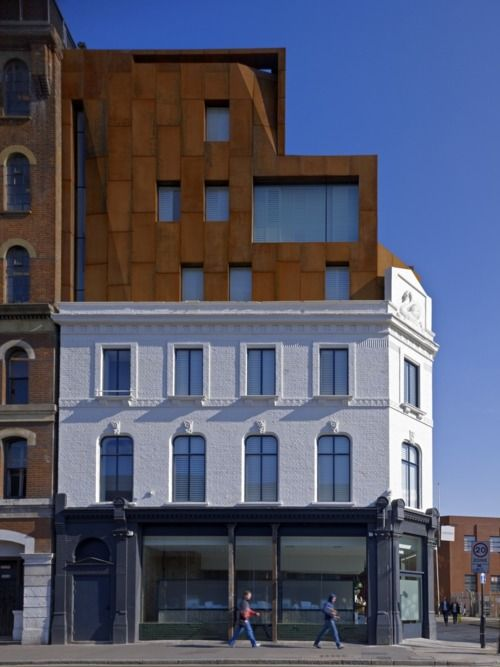 the Corten steel-clad hotel, part of the Shoreditch House private club in London…