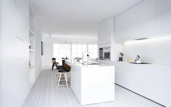 ATDesign- Nordic style minimalist kitchen in white