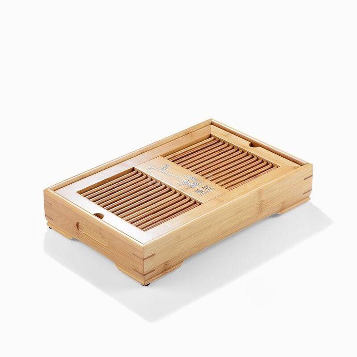 Mini Tea Table (1 per customer) - Reservoir & Drainage Type Solid Wood Tea Tray