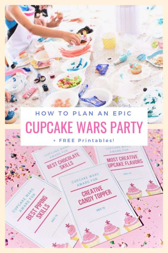 Cupcake Wars Birthday Party + FREE Printables
