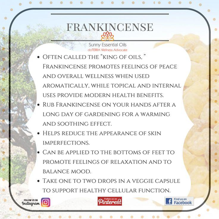 Frankincense Essential Oil info