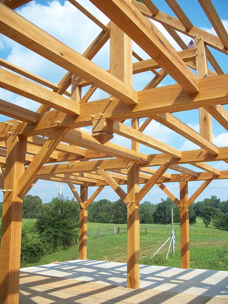 Timber Frame Barn - Bare Timber Frame - Timber Frame Construction - Homestead Timber Frames - Crossville Tennessee: