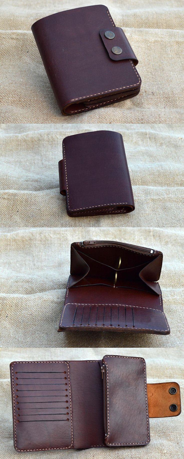 Мужской бумажник из натуральной кожи, ручной работы. Картхолдер на 9 карт., карман под купюры, карман на молнии, для мелочи, карман под автодокументы, для паспорта/смартфона, карман для визиток. Возможны другие цвета.