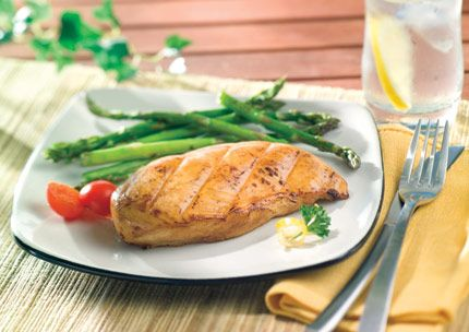 Chef Hans Rockenwagner's Soy Marinated Chicken Breast with Grilled Asparagus   Recipes with SPLENDA® Sweetener Products