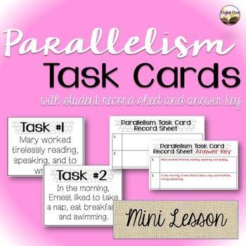 Parallelism Task Cards - Grammar Practice