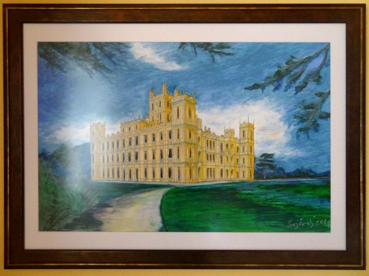 Highclere Castle, Downton Abbey, oil painting, svejkovsky.ivo@gmail.com Instagram: ivo_svejkovsky