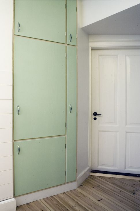 1960 mid-century modern. Custom retro wood work. Kitchen. Grønt 1950'er forrammekøkken - Design af Nicolaj Bo™