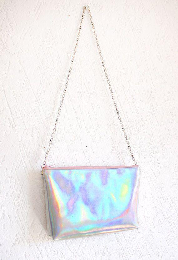 Crossbody bag Holographic bag iridescent bag Messenger by RossMiu