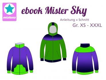 Ebook Sweatjacke Mister Sky Gr. XS-XXXL