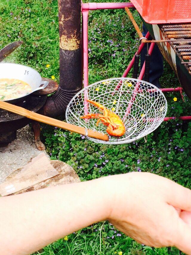 Sautéed crayfish