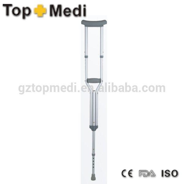 Comfortable Adjustable Aluminium crutch medical nordic walking stick aluminium underarm walking stick