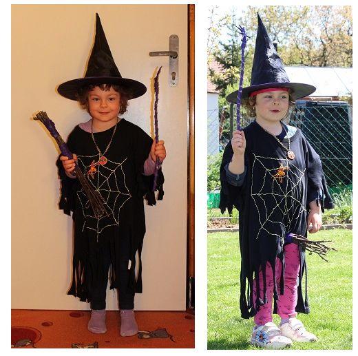 Vlastnoručně vyrobený kostým čarodějnice