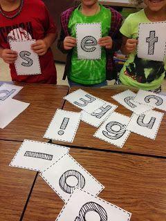 Freebie Word building activity--Team (word) building!