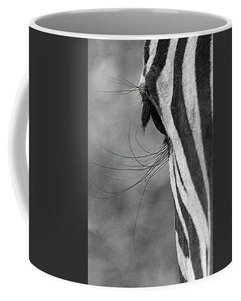 Long - Lashed Eyes Of A Zebra By Irina Safonova Coffee Mug featuring the photograph long - lashed eyes of a Zebra by Irina Safonova#IrinaSafonovaFineArtPhotography #food #Rustic #ArtForHome#CoffeeMug