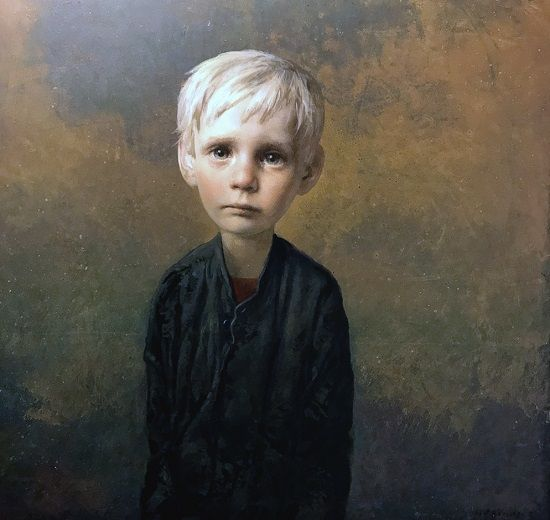 """""""Boy"""" by Igor Melnikov, 2017. // son las búsquedas por emular a través de retratos, estos brincos de las emociones humanas que viajan a través de una iconografía de la fragilidad. // arte contemporáneo, pintura, óleo, contemporary art, artwork, oil painting."""