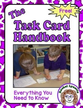 Task Card Handbook: Everything You Need to Know - FREE!Whether you are wondering about using task cards in your classroom or have been using them for years, this free ebook is for you! This book will tell you:- Why task cards are such amazing teaching tools- The many ways they can be used- How to store prep and store them- And much, much more!In addition to tons of tips and ideas, there are links to supporting resources and freebies.