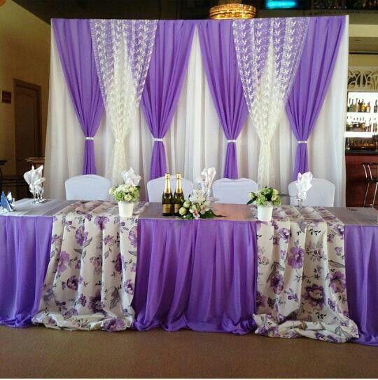 фиолетовая свадьба, фиолетовый декор