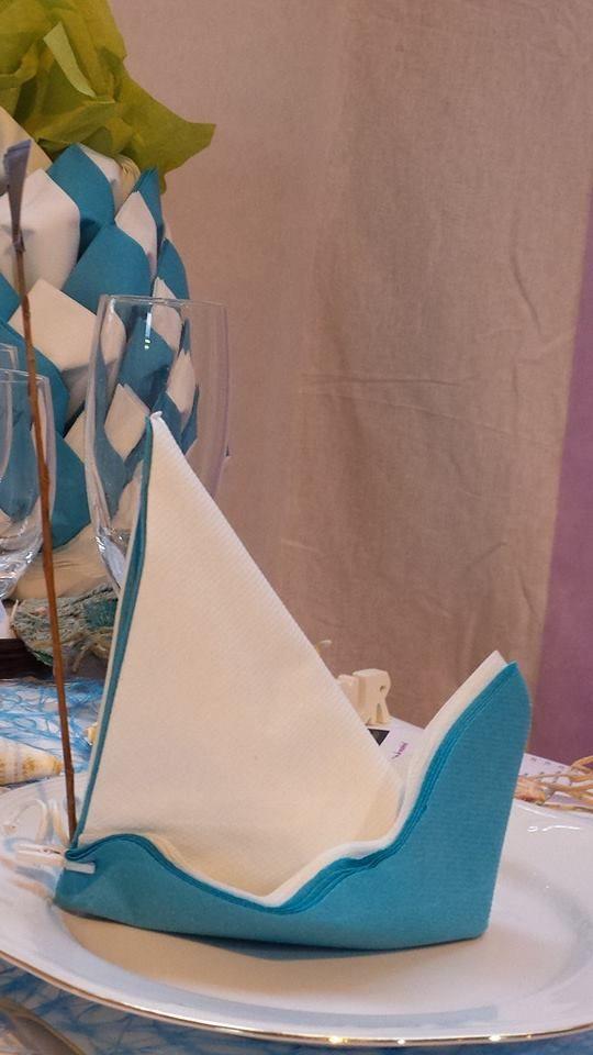pour un esprit Voyage , le pliage de serviette voilier