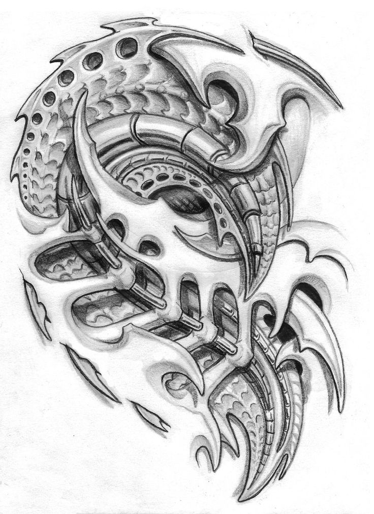 biomechanical chest piece. by sarcovenator Biomechanical