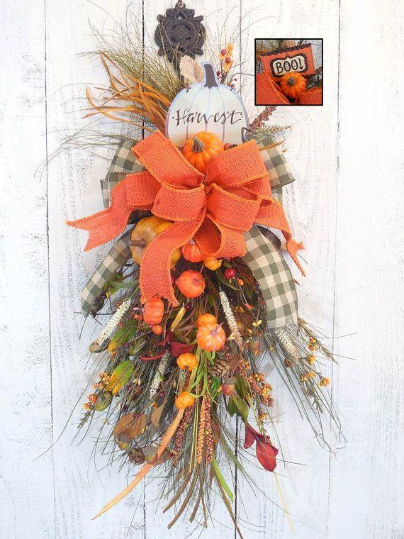 Fall And Halloween Wreath Fall Door Wreaths Door By