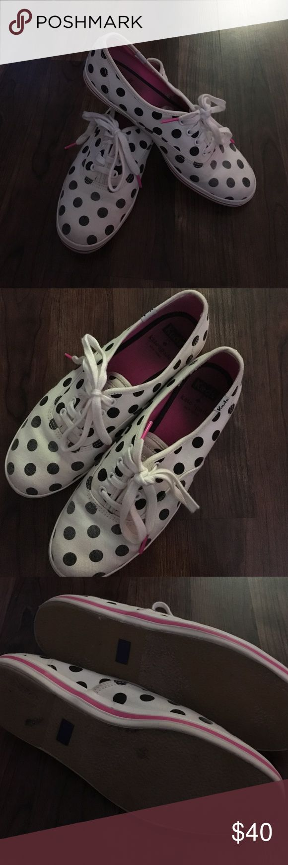 Kate spade for Keds sneakers polkadots size 7 Wonder sneakers by Keds and Kate Spade. White with black dots all over. Insides have slight wear, soles have almost no wear, and no stains kate spade Shoes Sneakers
