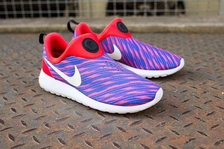 mens nike roshe run slip purple orange