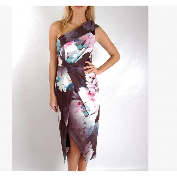 Sascha One Shoulder Midi Party Dress