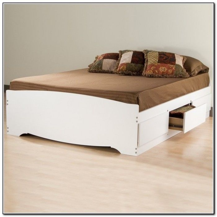 best queen storage bed frame with brown bedding