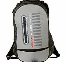 McLaren Vodafone McLaren Mercedes Grey Rucksack Back to School Sports Bag F1 Formula One This highly functional rucksack with Vodafone McLaren Mercedes branding to the front has front and rear moulded sections and multi-compartment storage (Barcode EAN = 5060082324680). http://www.comparestoreprices.co.uk/formula-1-merchandise/mclaren-vodafone-mclaren-mercedes-grey-rucksack-back-to-school-sports-bag-f1-formula-one.asp