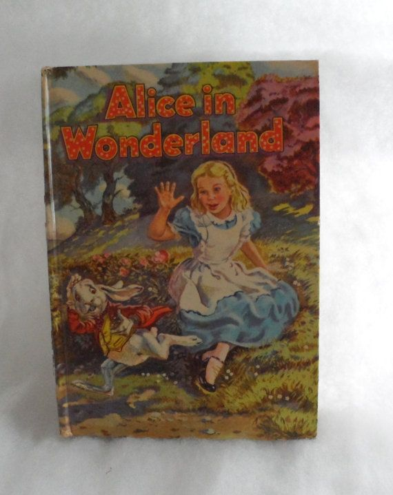 Circa 1955  ALICE IN WONDERLAND  Vintage Childrens' by BYGONERA, $10.00