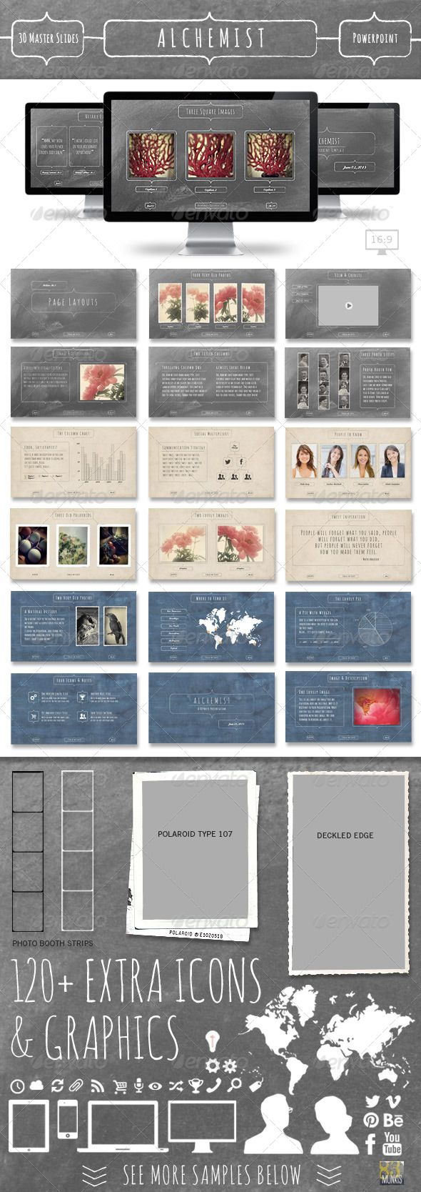 Alchemist Powerpoint Template #GraphicRiver Transform you ideas and images into a stunning presentation with the Alchemist Powerpoint