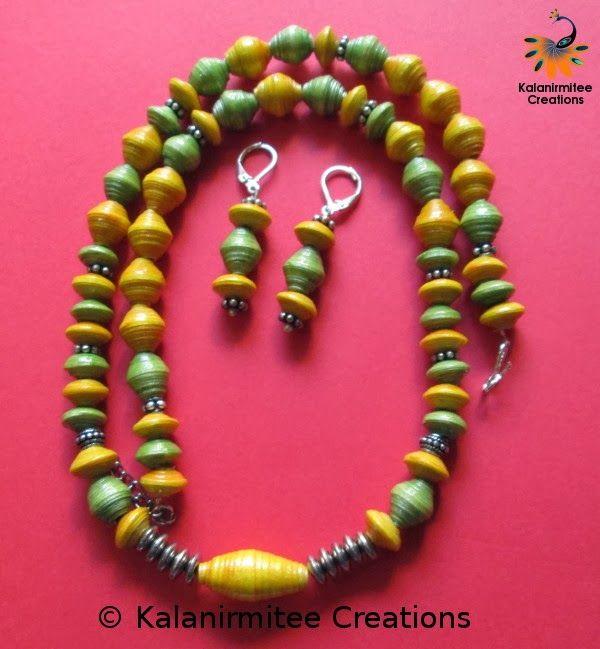 paper bead jewelry - Visit http://www.kalanirmitee.com