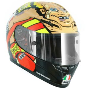 Valentino Rossi Boxer helmet (Misano 2012): For the 2012 Misano MotoGP Valentino produced a special helmet design to poke fun at his struggles with the Ducati. Rossi was portrayed as a beaten up boxer collapsing on the ropes, while asking 'How am I doing?' More: http://rossihelmets.com/rossis-helmets/2012-motogp-rossi-helmets/valentino-rossi-boxer-helmet-misano-2012/