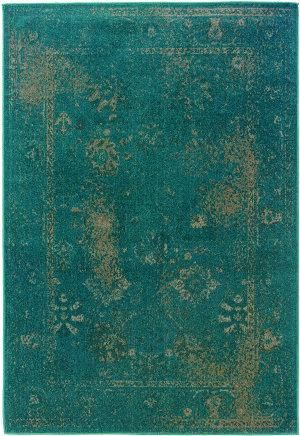 Sphinx By Oriental Weavers Revival 3690d Teal Area Rug