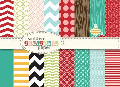 Christmas Digital Scrapbooking Paper | Smitten Blog Designs