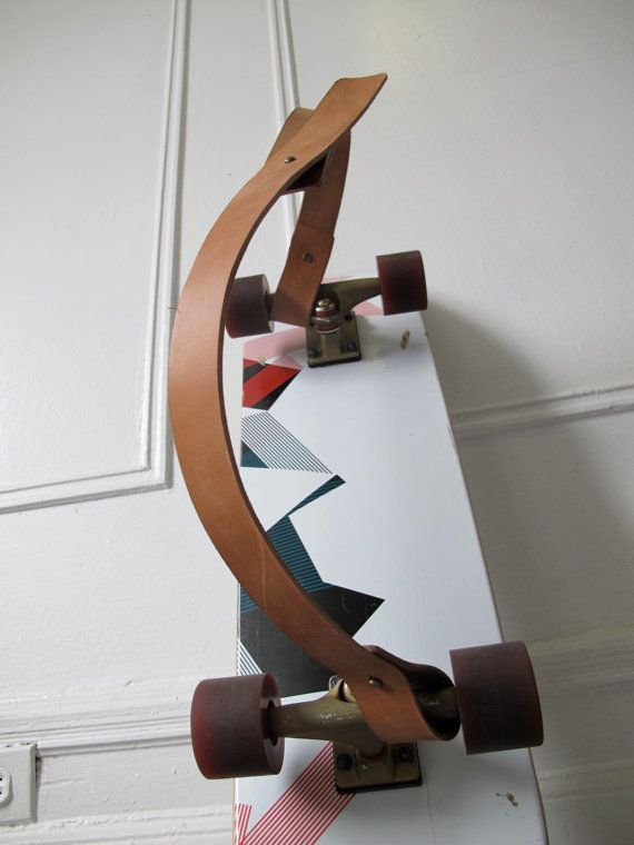 Leather longboard-carrying strap, kind of what Cody was talking about. It would be really rad to get one of these.