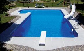 Lazy L Shaped Pools Inground Vinyl Liners Swimming Pools
