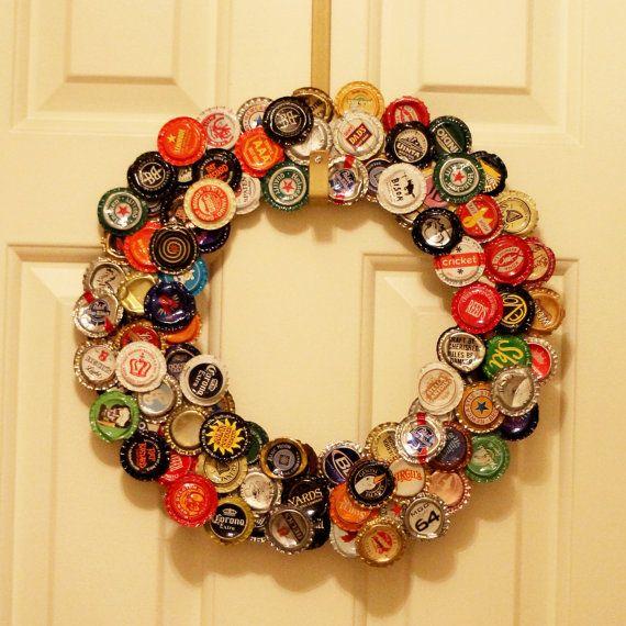 Top 25 Ideas About Bottlecap Wreath On Pinterest Plastic