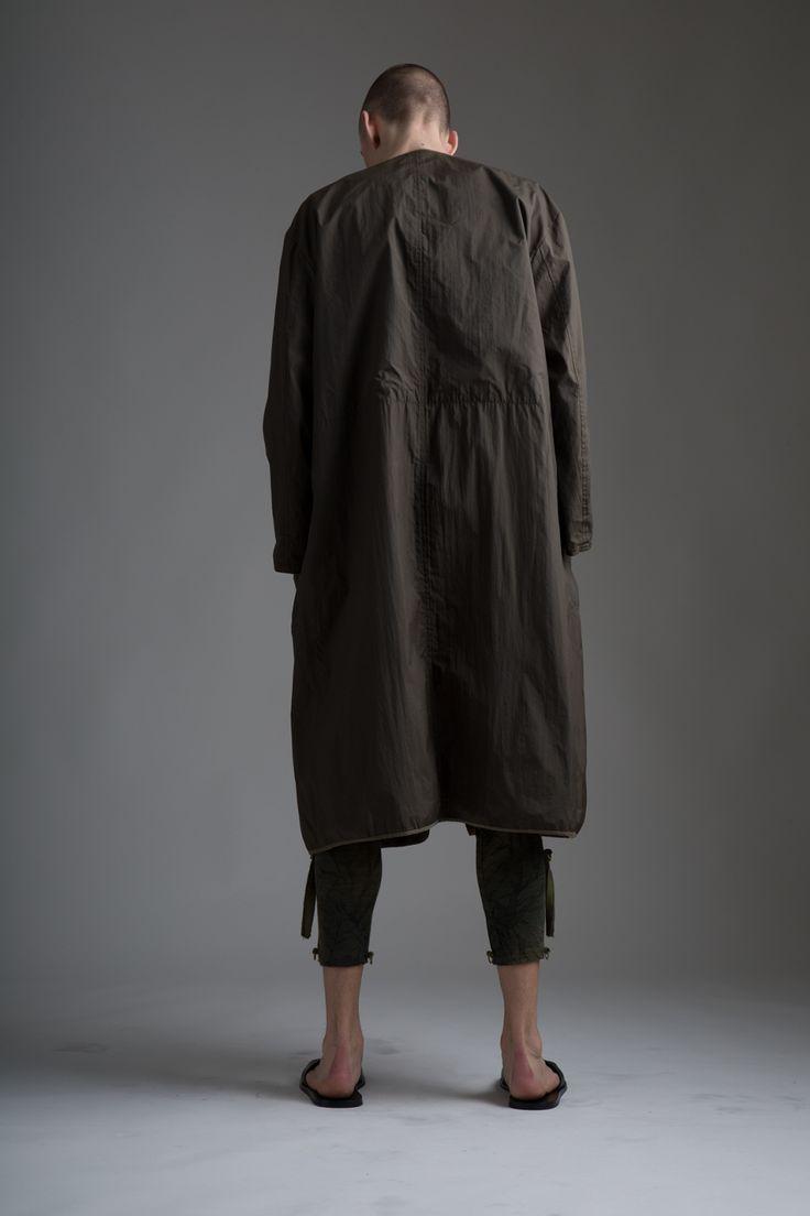 Vintage Men's Comme des Garcons Coat. Leaf print leggings. Designer Clothing Dark Minimal Street Style Fashion