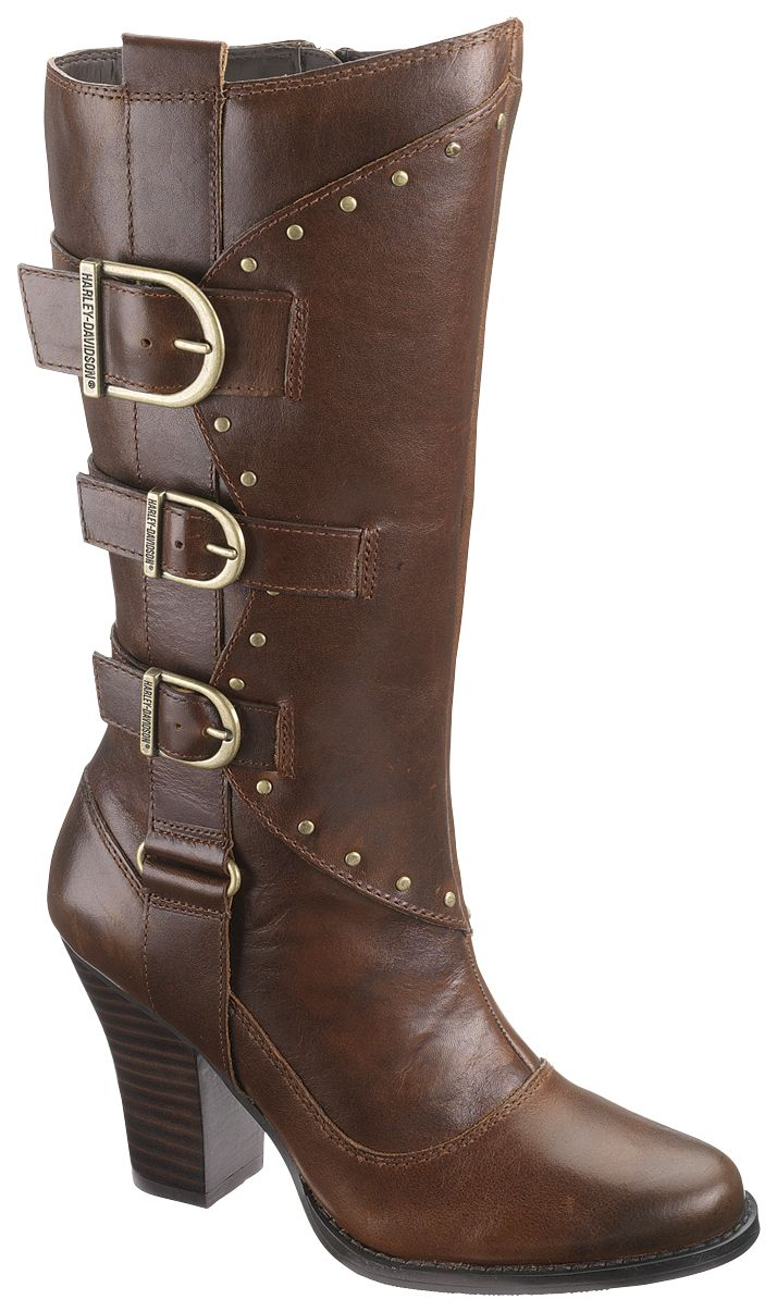 Harley-Davidson® Womens Annalisa Brown High Cut Boot