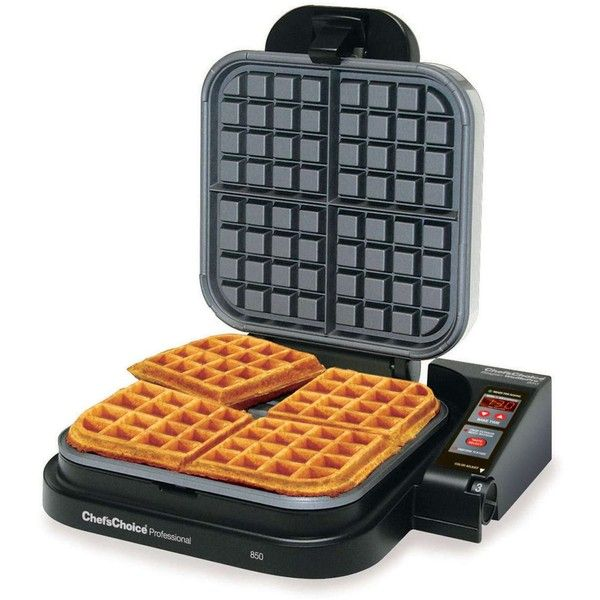 Chef'sChoice Belgian WafflePro (3.365 ARS) ❤ liked on Polyvore featuring home, kitchen & dining, small appliances and nonstick griddle