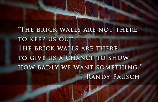 Brick Walls - Randy Pausch