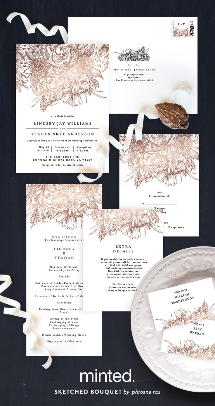 340 best Wedding Invitations images on Pinterest | Card wedding ...