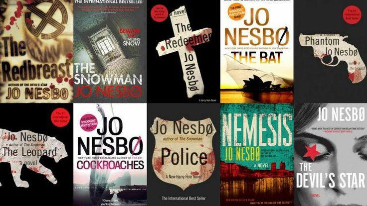 """Jo Nesbo books featuring Detective Harry Hole...reading these now! They're so addictive!! Reminds me a bit of Michael Connelly's """"Harry Bosch""""."""