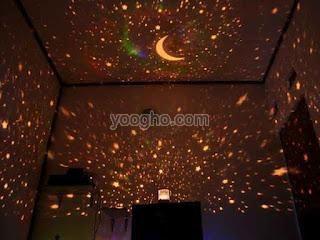 Lampu Tidur Proyektor Bulan Bintang (Star Beauty)