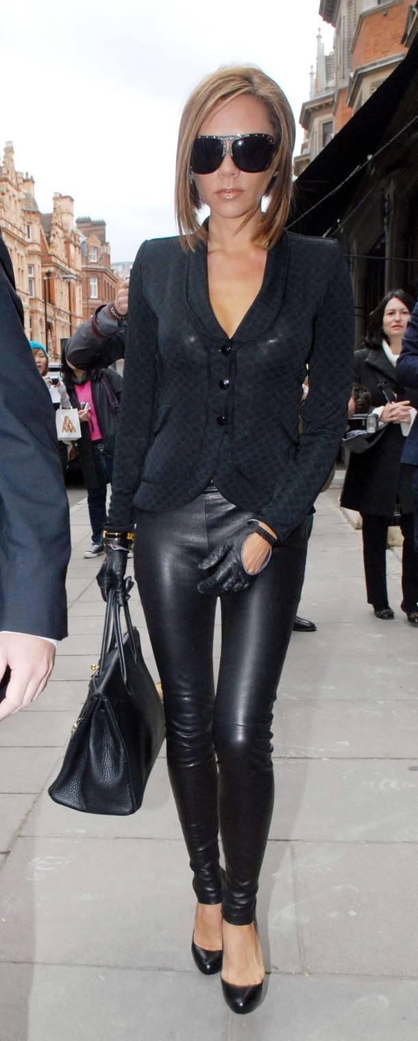 Black leather gloves brisbane - Victoria Beckham Picture 332 Leather Glovesleather Leggingsblack