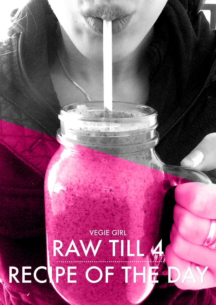 Eating Raw till 4 is easier than you think! Especially if your making delicious recipes that keep you full till the afternoon. Generally when eating Raw till 4 I start the day with a smoothie or fr...