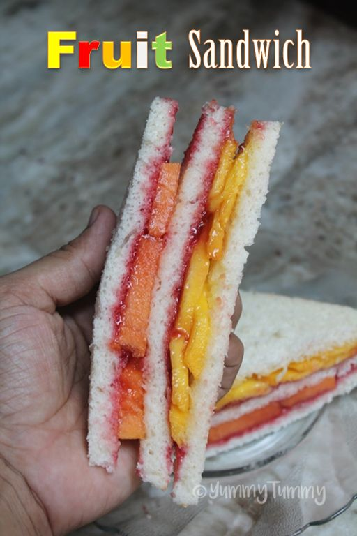 Fruit Sandwich Recipe - Delicious Fresh Fruit Sandwich Recipe